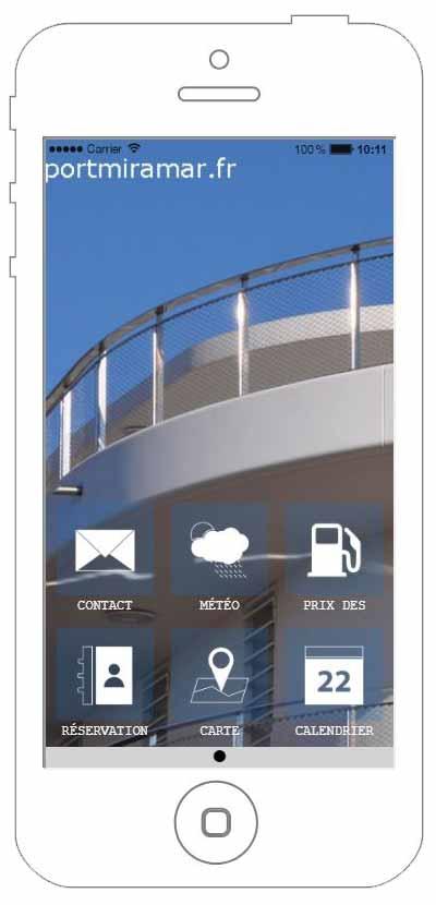 Copie écran de l'application portmiramar en préparation